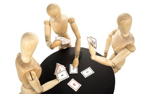 Séance de planning poker de Scrum